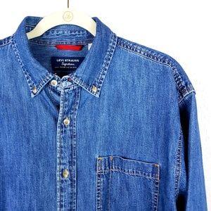 Levi Strauss SIgnature Denim Button Front Shirt L